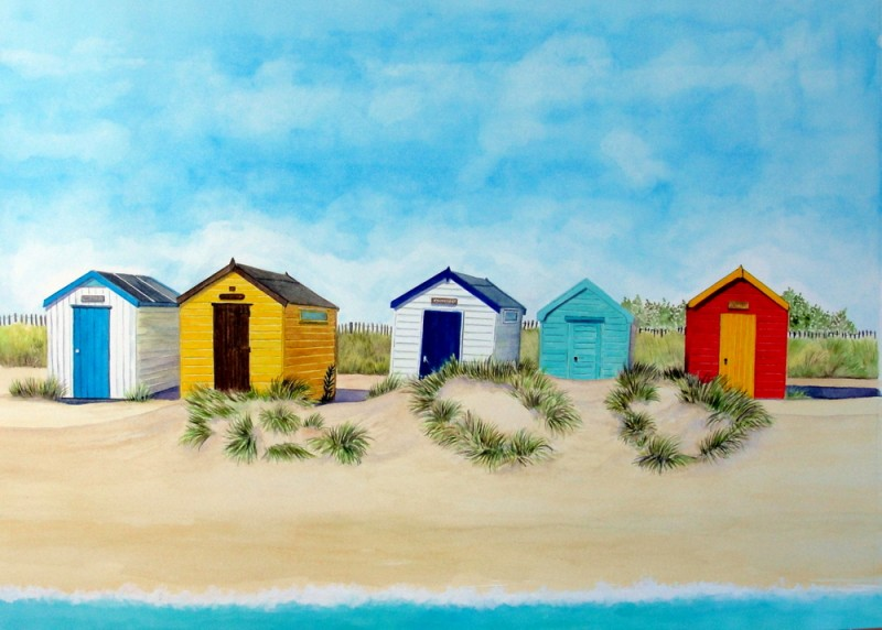 Southwold Huts and Sand Dunes - SOLD