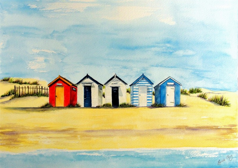 Southwold Classic Beach Huts - Giclee Print £35