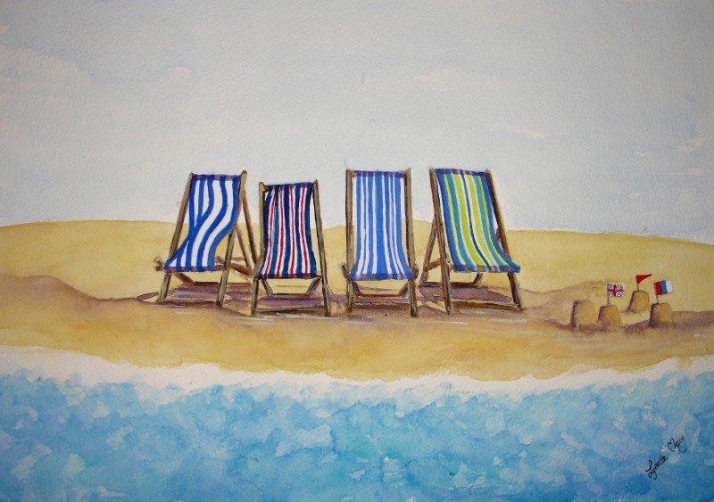 Deckchairs and Sandcastles - Original - £55