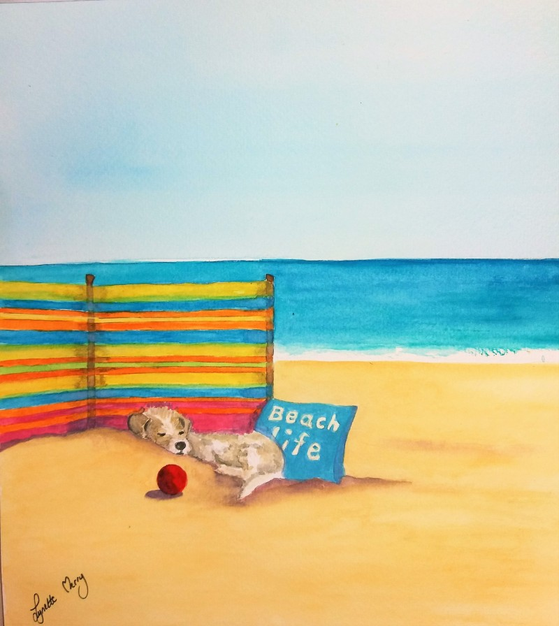 Beach Snoozing - Original £30