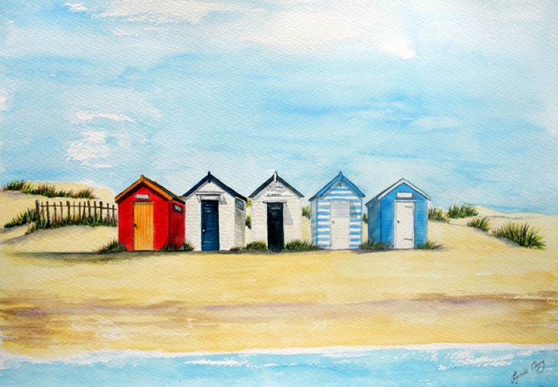 Southwold Classic Beach Huts Card