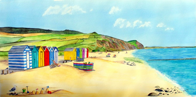 Charmouth Painting