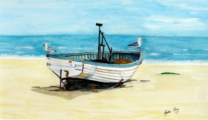 Fishing Boat Card - SOLD OUT